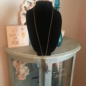 J. Crew Tassel Long Necklace